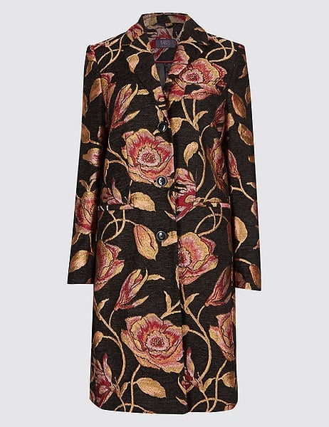 Marks and Spencer Floral Print Coat