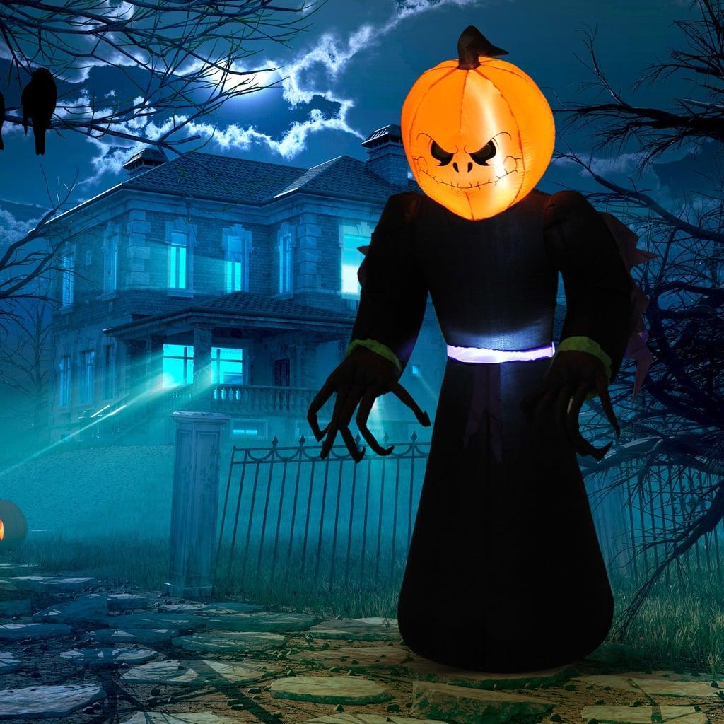 Inflatable Halloween Pumpkin Reaper Light-Up Yard Decoration