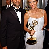 Edie Falco, joined by Stanley Tucci, went home with the award for lead actress in a drama series in 2003.