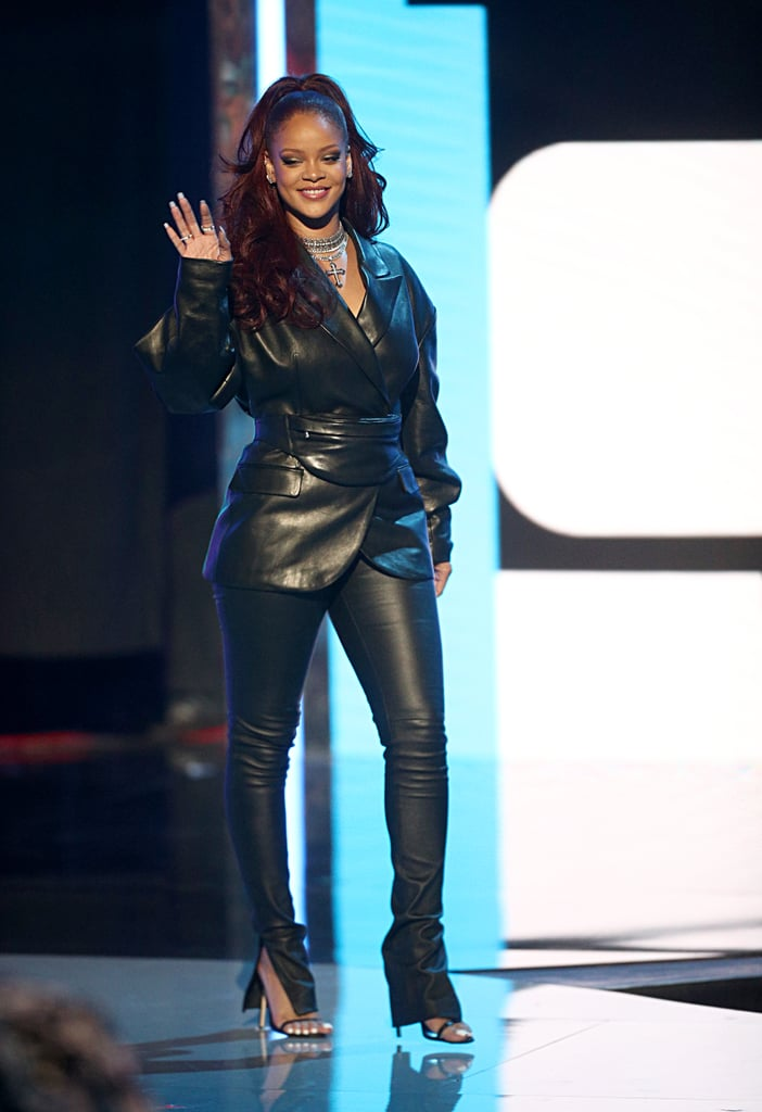rihanna's leather outfit at the bet awards 2019  popsugar