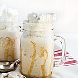 Vanilla Iced Coffee With Vanilla Whipped Cream