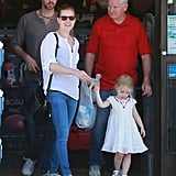 Amy Adams spent an October afternoon shopping with her family.