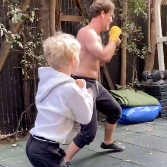 James Van Der Beek Kickboxing With Son Joshua | Video