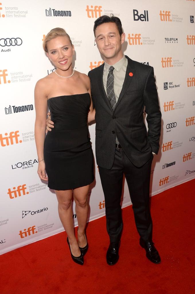 Scarlett Johansson and Joseph-Gordon Levitt smiled on the red carpet for Don Jon.