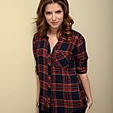 Anna Kendrick kept it casual in a plaid shirt on Saturday.