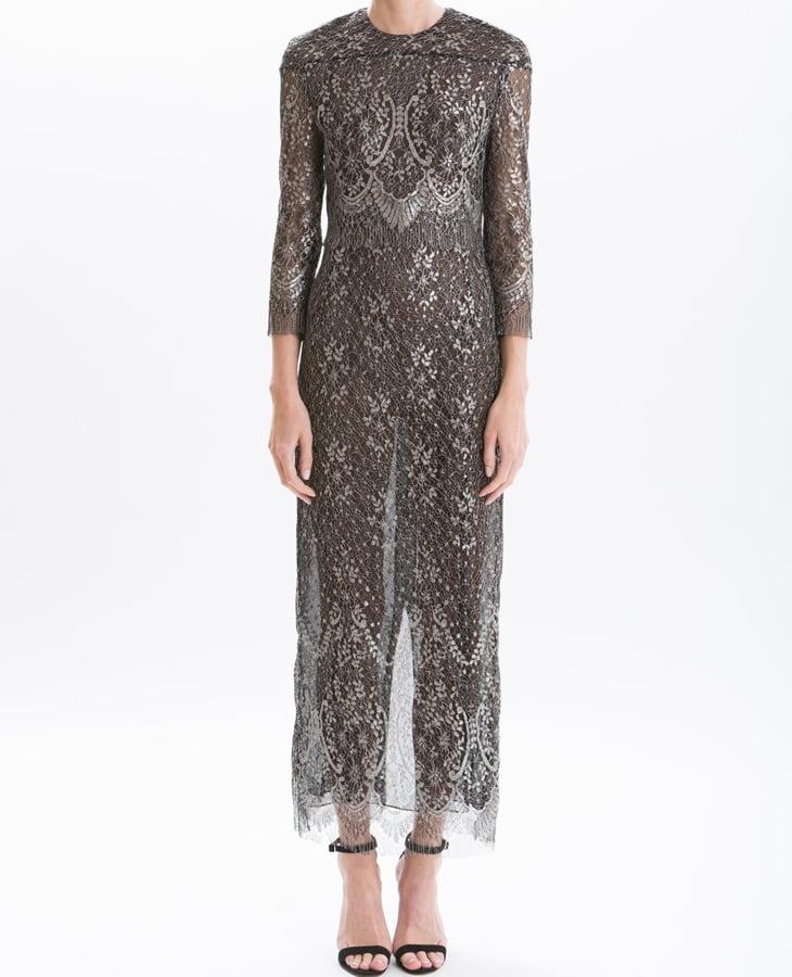 c7d33536e J. Mendel Metallic Lace Long Sleeve Gown | Melania Trump's Sheer ...