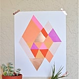 Abstract Diamond Print