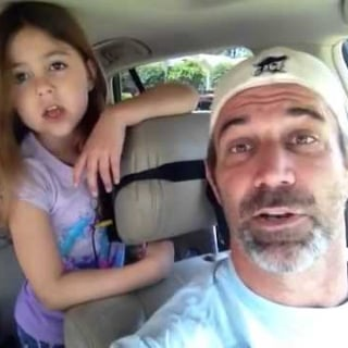 "Dad and Daughter Sing ""Love Is an Open Door"""