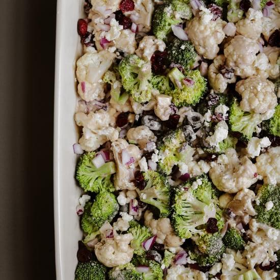 Easy Broccoli and Cauliflower Salad Recipe