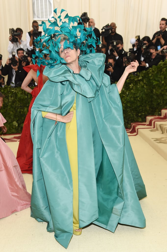 "Did you really think Frances McDormand's reign would end after award season? On Monday, the Oscar-winning actress attended the Met Gala in Valentino couture and made Twitter go crazy in the process. While her gown alone was meme-worthy, it was her serious attitude on the red carpet that really sent people overboard. ""Frances McDormand is a f-ing MOOD!"" one fan tweeted. ""I want to be Frances McDormand when I grow up,"" another Twitter user wrote as she posed alongside Anne Hathaway and Pierpaolo Piccioli. Honestly, same."