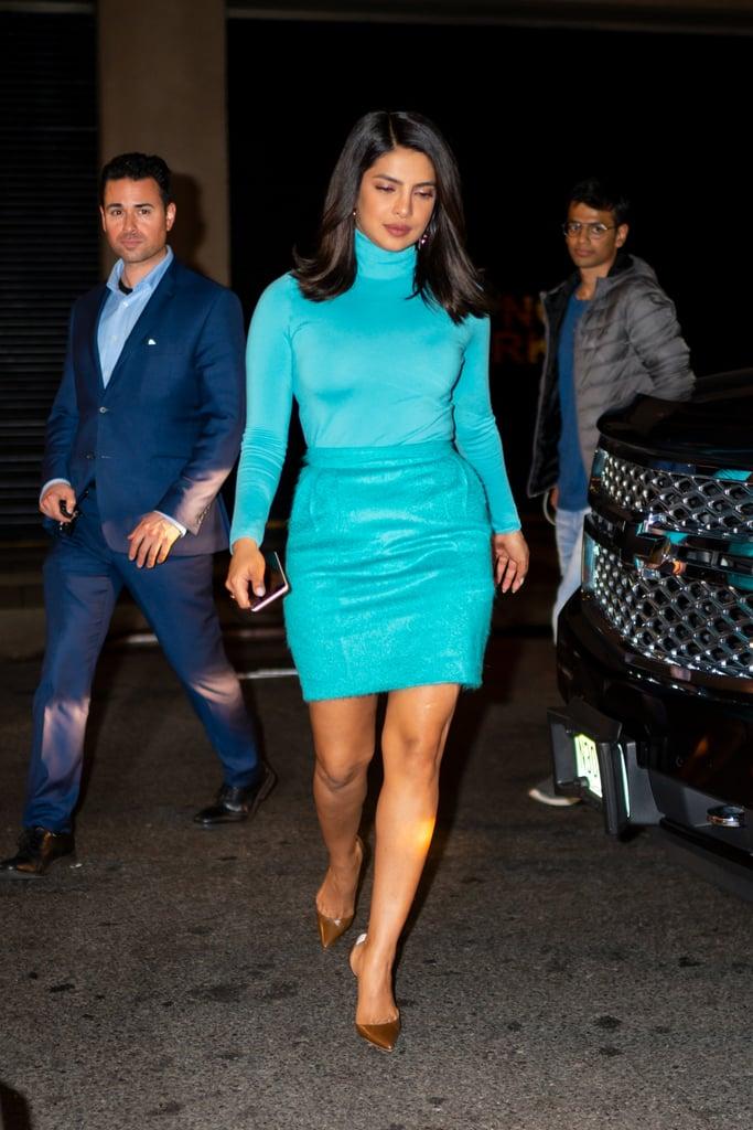 Priyanka Chopra and Rihanna Wore the Same Sexy Blue Outfit