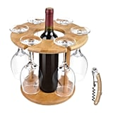 Wine Glass Drying Rack and Bottle Holder