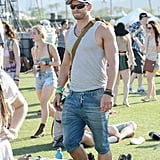 Kellan Lutz showed off his arms in a tank top.