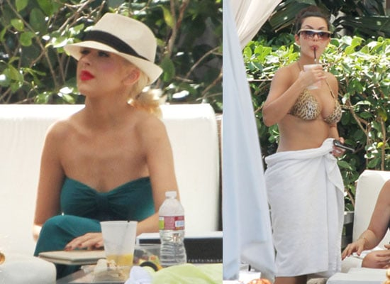 Pictures of Christina Aguilera and Kim Kardashian in Bikini