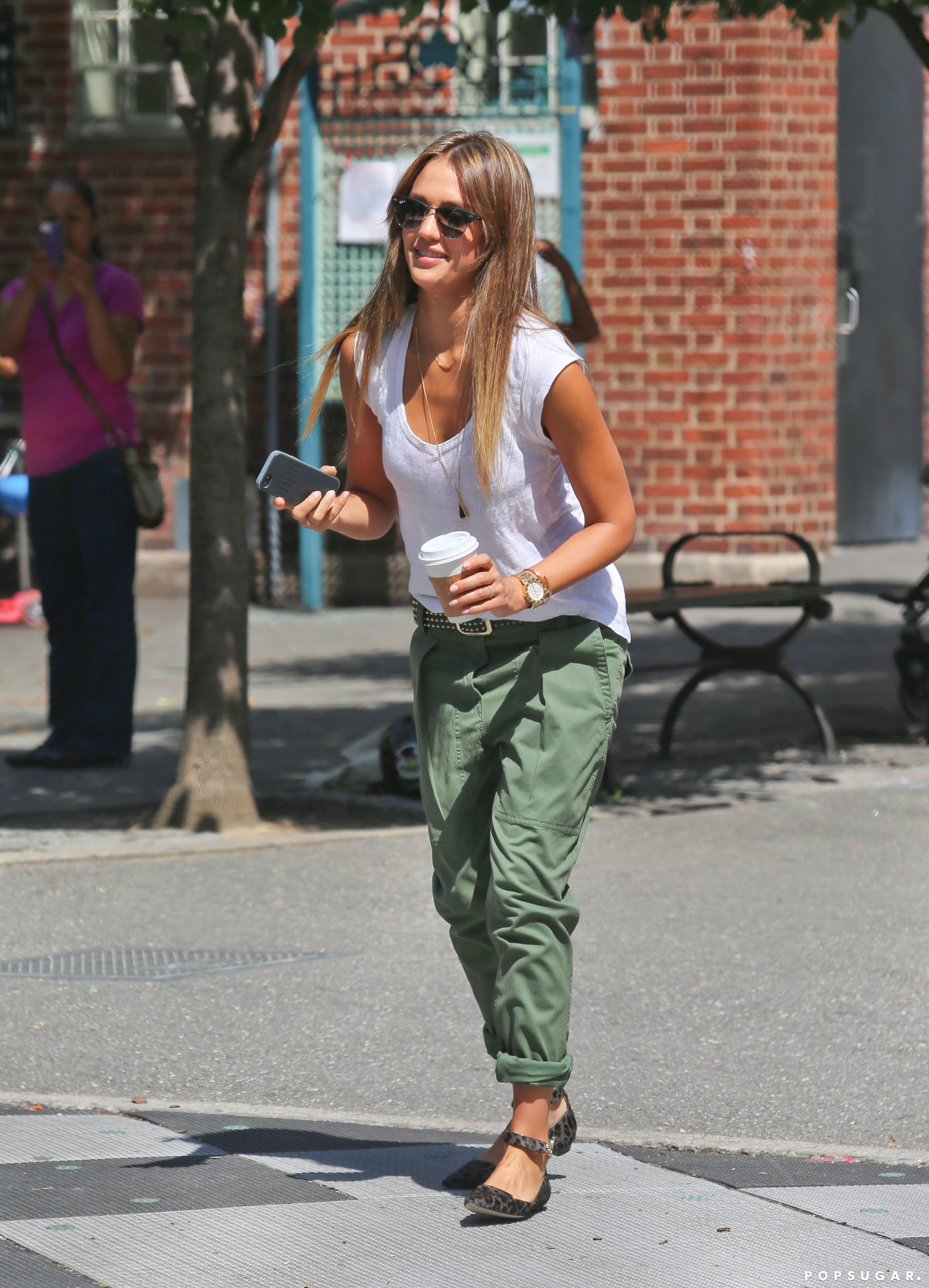 Jessica Alba Likes Her Fashion Week With a Side of Swinging