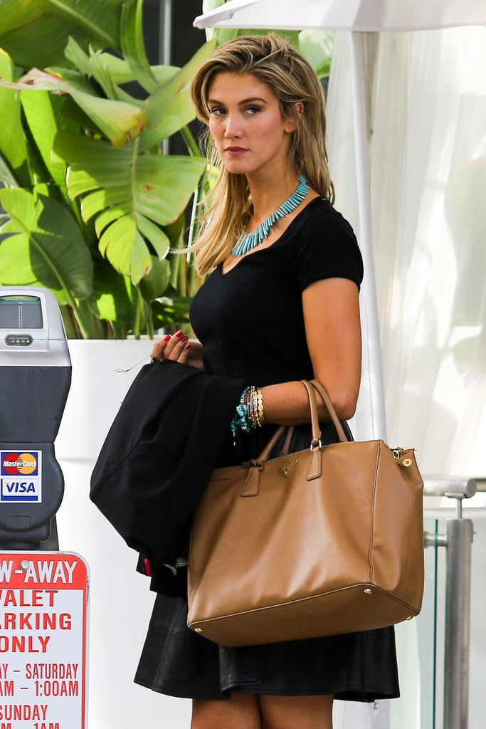 Delta Goodrem Legs It to Lunch in Beverly Hills