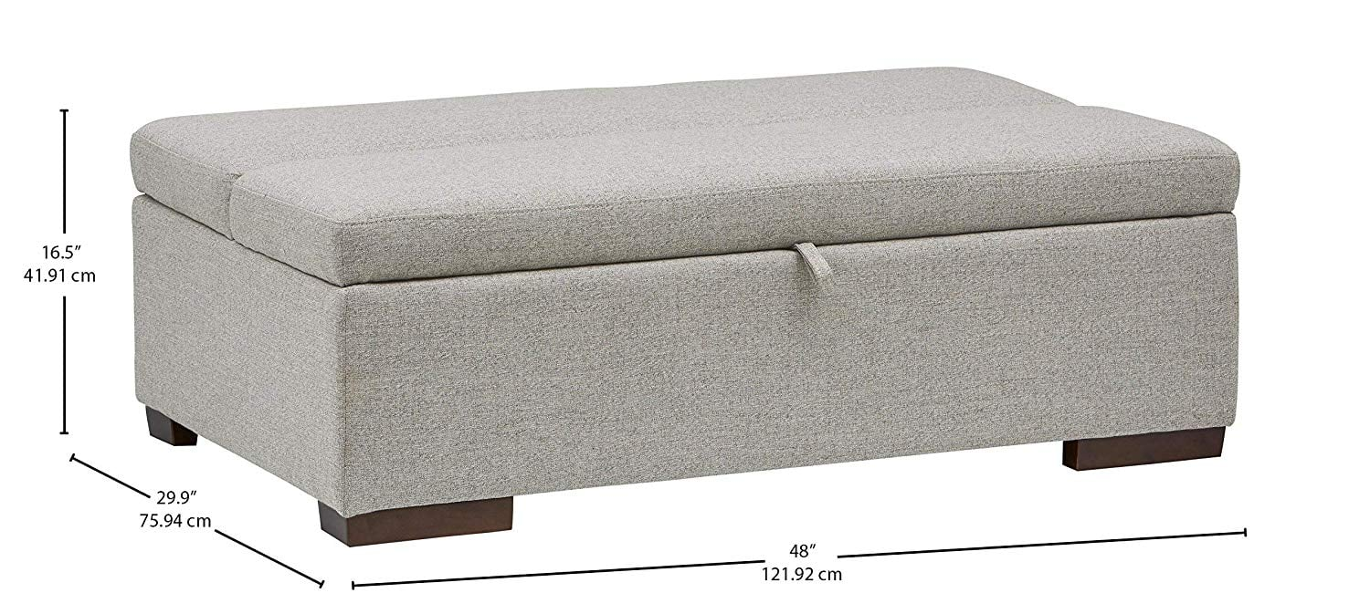 Rivet Fold Modern Ottoman Sofa Bed Small Apartment This