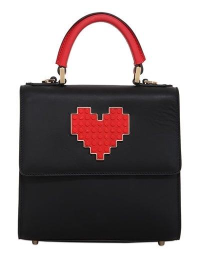 Les Petits Joueurs Mini Alex Lolita Heart Lego Leather Bag ($911)