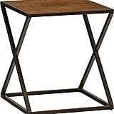 Stone & Beam Industrial Parquetry-Top Side Table