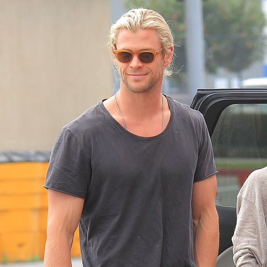 Chris Hemsworth and Family Shopping in Santa Monica
