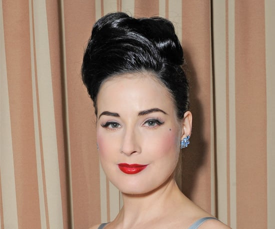 Pictures of Dita Von Teese's Hairstyles