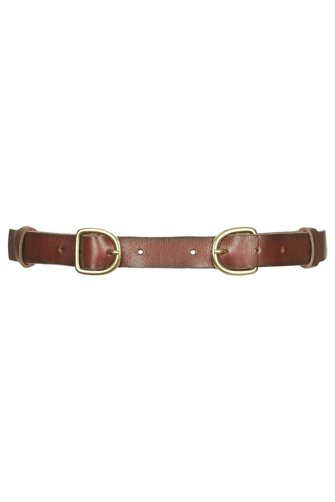 Topshop Double Buckle Leather Belt ($48)
