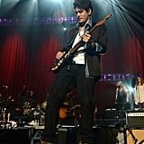 John Mayer performed at the Love for Levon benefit.