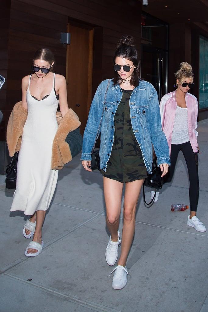 Gigi Hadid, Kendall Jenner, and Hailey Baldwin NYC June 2016