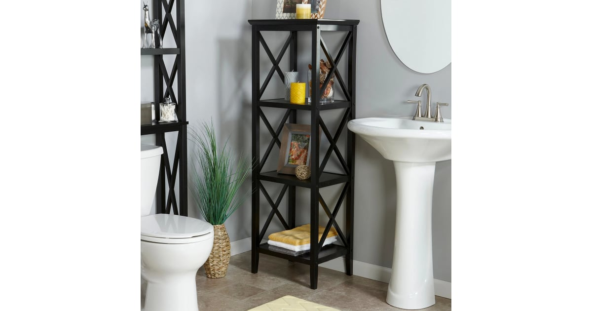 X Frame Collection 4 Shelf Storage Tower Dreaming Of A Bigger Bathroom These Space Saving Furniture Pieces Are What You Need Popsugar Home Photo 3