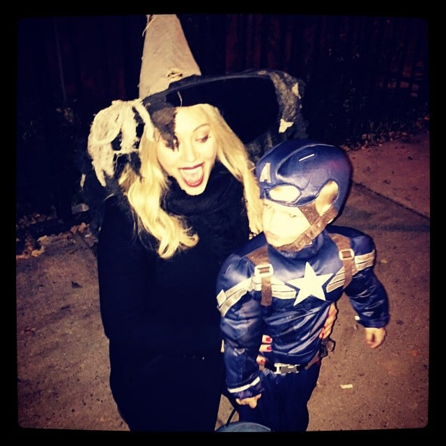 Hilary Duff as a Witch and Luca Comrie as Captain America