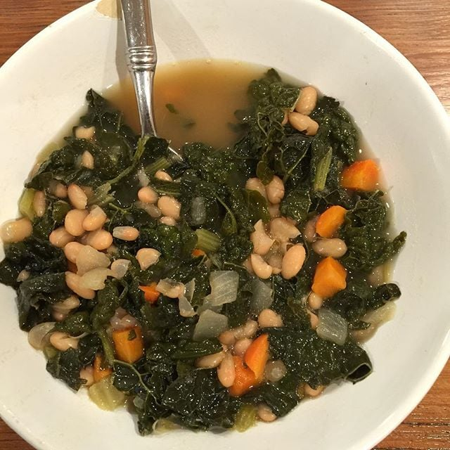What's better than feeding your heart and soul with some kale, carrot, and white bean soup? Having a thoughtful friend whip it up for you.