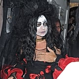 Kate Moss attended a Halloween party in London.