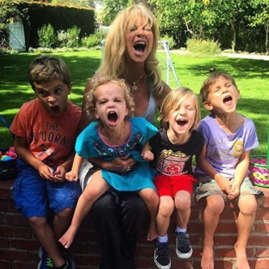 Goldie Hawn With Her Grandchildren Pictures