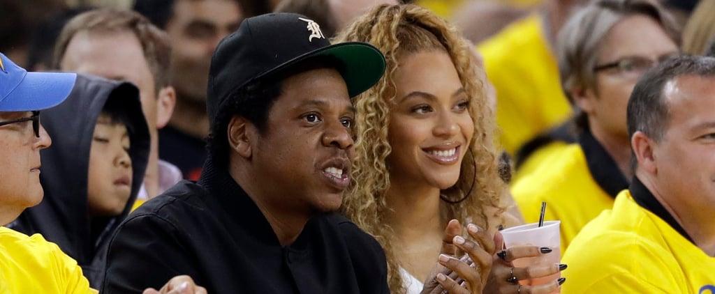 Beyoncé and JAY-Z at Golden State Warriors Game April 2018