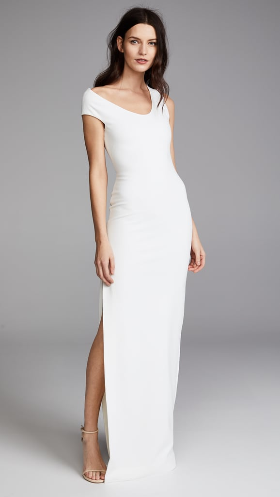 Solace London One Shoulder Crepe Dress