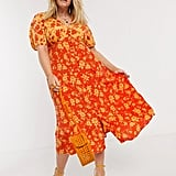Neon Rose Plus Flora Midi Dress
