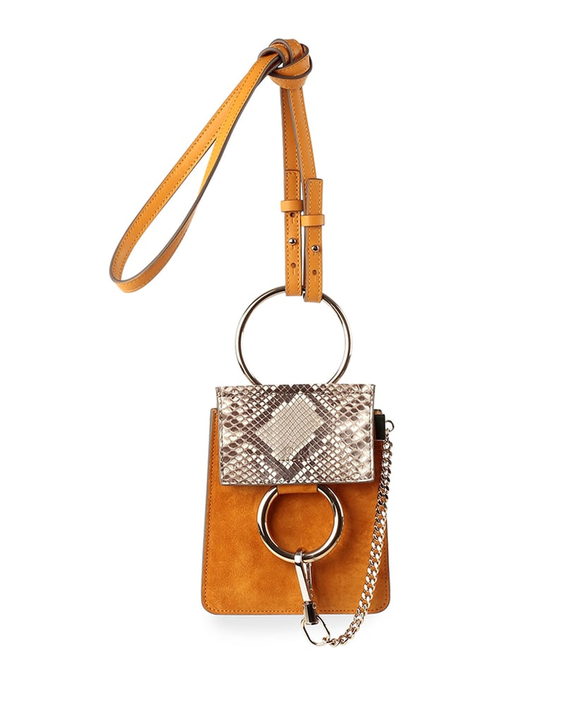 Chloé Faye Python-Pattern and Suede Mini Crossbody Bag ($1,290)