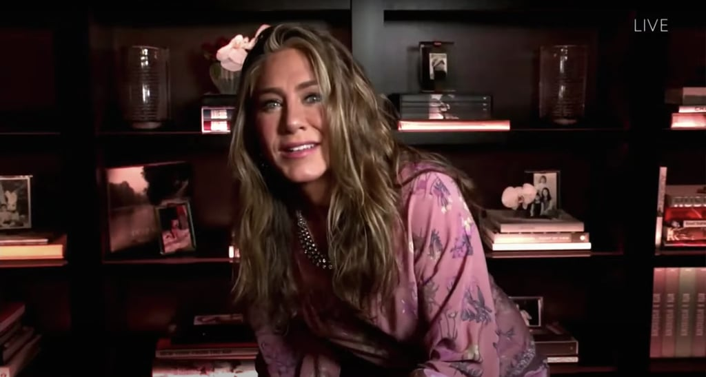 Jennifer Aniston's Floral Robe at the 2020 Emmys