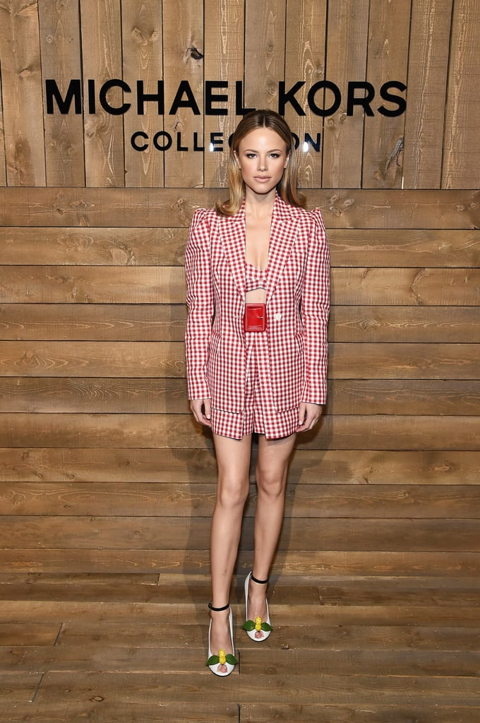 Halston Sage at the Michael Kors Fall 2020 Show