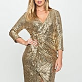 Eloquii Studio Sequin Wrap Dress ($155)