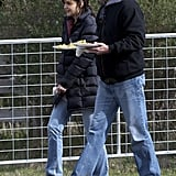 Photos of Katie Holmes on Set