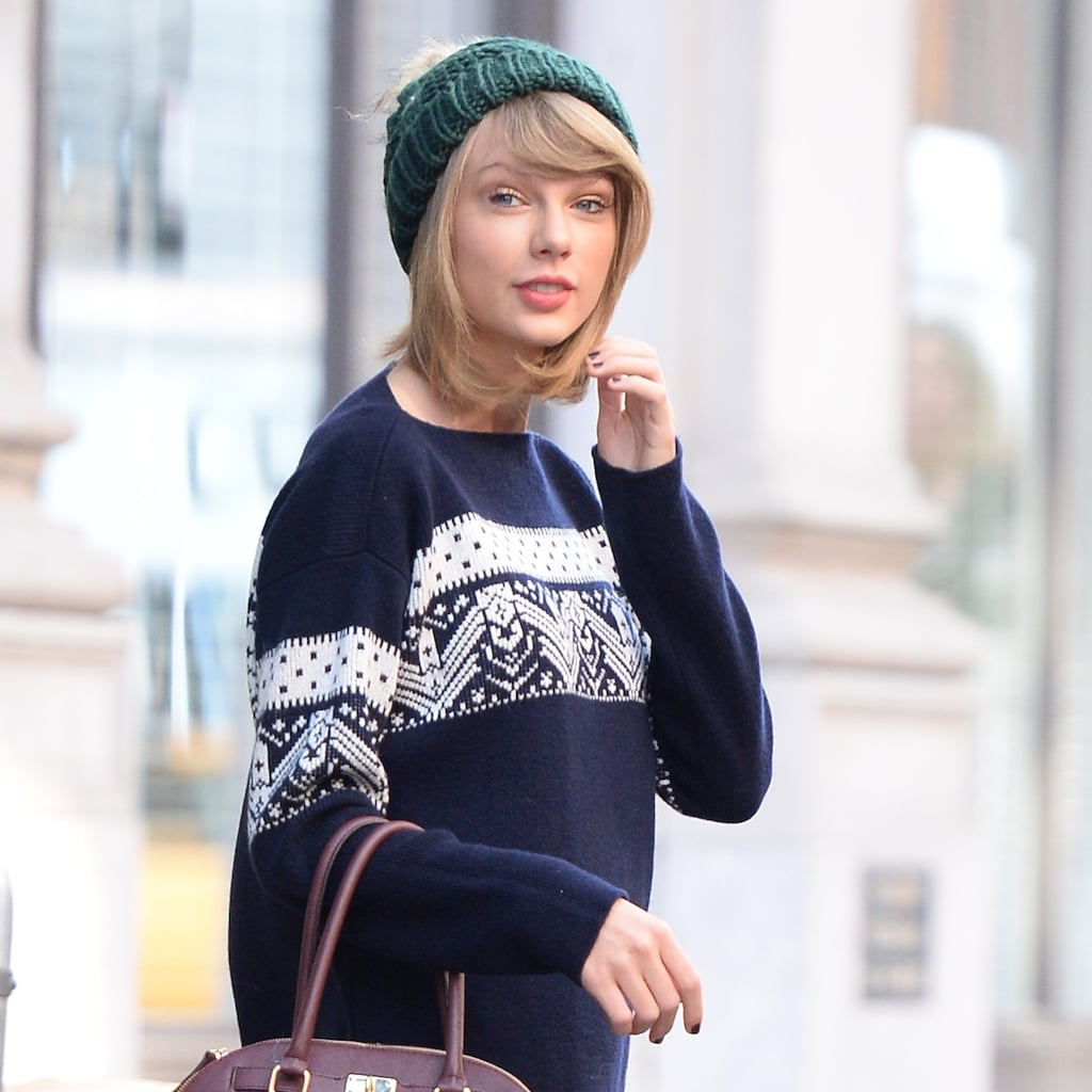 Taylor Swift 39 S Handmade Sweater Popsugar Fashion