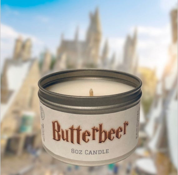 Butterbeer Popcorn Candle
