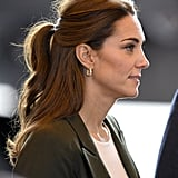 Kate Middleton's Casual Half-Up Ponytail, 2018