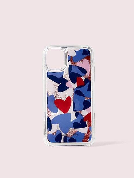 Heart Party Liquid Glitter iPhone 11 Case