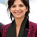 Juliette Binoche wore her short hair undone and looked utterly chic at a photocall for Slack Bay.