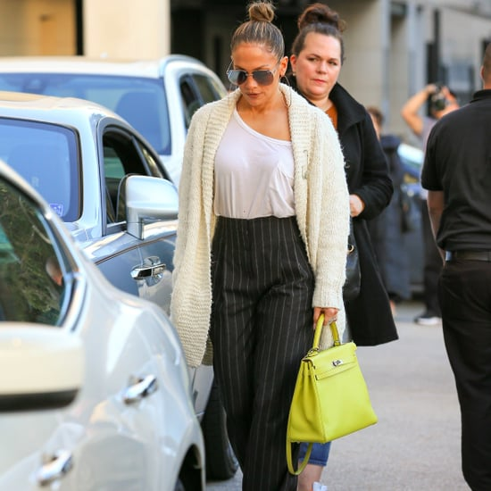Jennifer Lopez's Yellow Hermes Birkin Bag December 2016