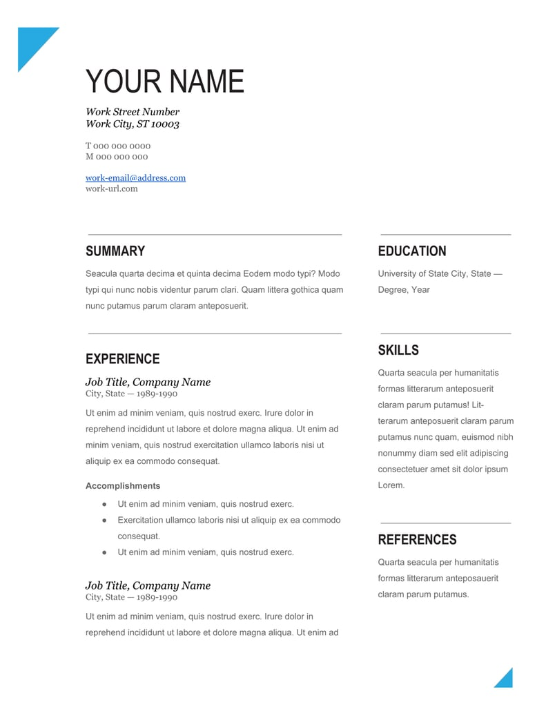 Popsugar  Download Word Resume Template