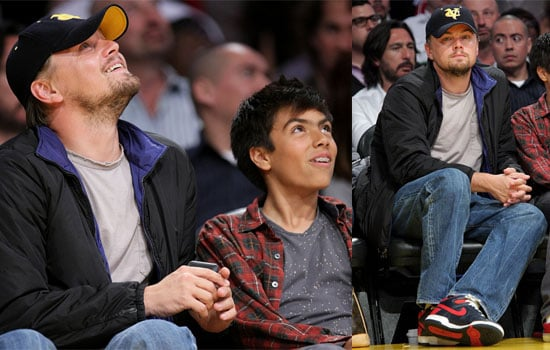 Photos of Leonardo DiCaprio at the Lakers Game