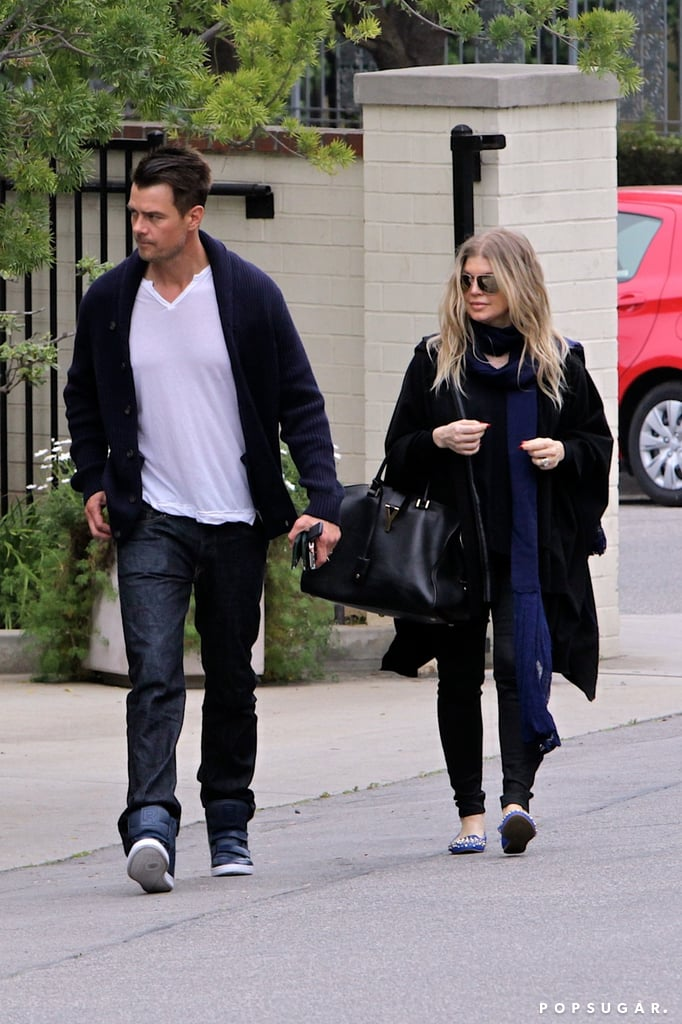 Fergie and Josh Ditch the Green on St. Patrick's Day